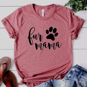 Fur Mama Shirt Dog Cat Pet Mom Mother Fur Kids Paw